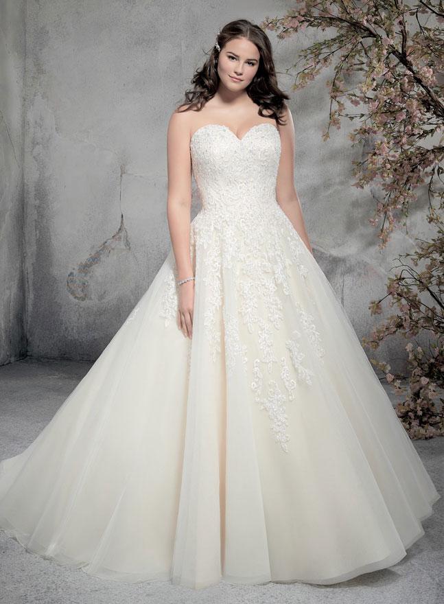 Große Größen Brautkleider für kurvige, mollige Bräute and