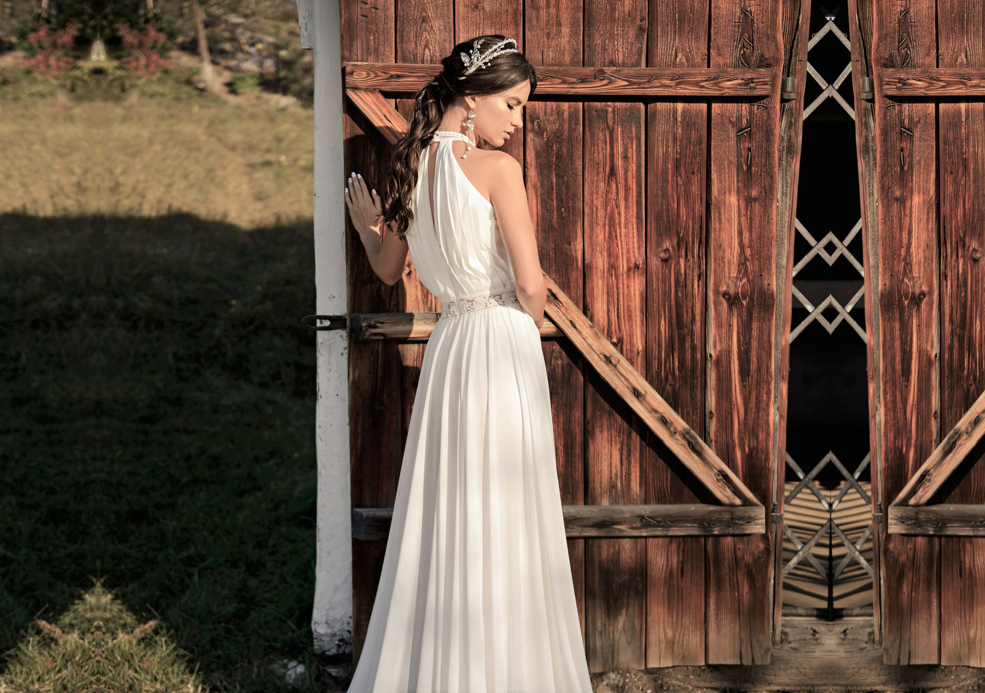 Vintage Brautkleid, Boho Hochzeitskleid