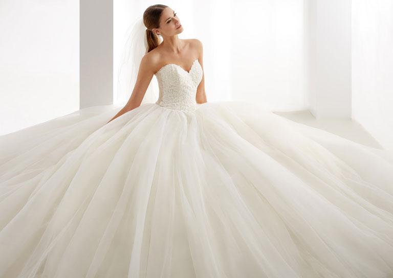 Brautkleid Prinzessin Tüll
