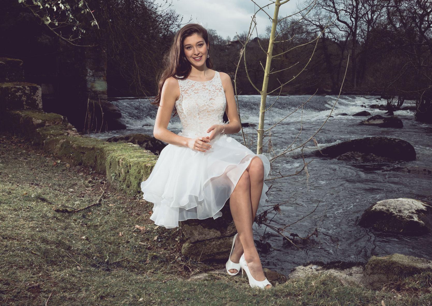 Hochzeitskleid Hippie kurz - Brautmode kurze Kleider
