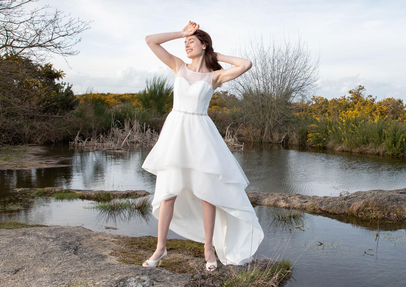 Hochzeitskleid kurz Brautkleid große Größen