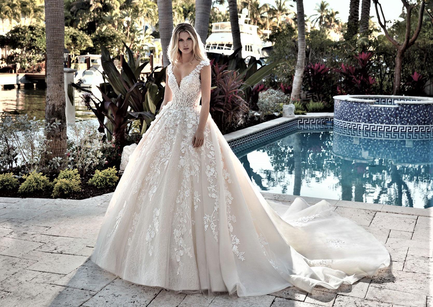 Prinzessinnen Brautkleider  Feminine Hochzeitskleider im Duchesse