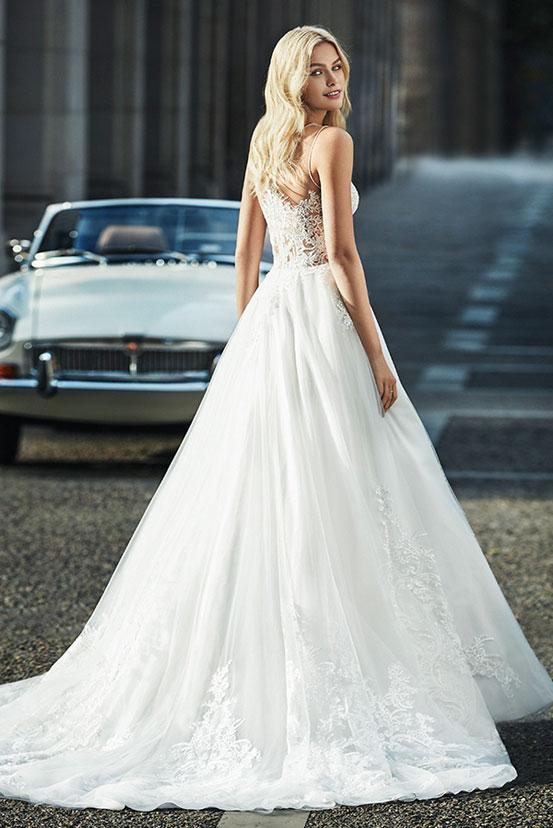 Eng schleppe brautkleid lange Lange Brautkleider
